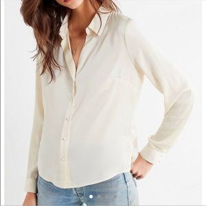 Urban Outfitters Satin Long Sleeve